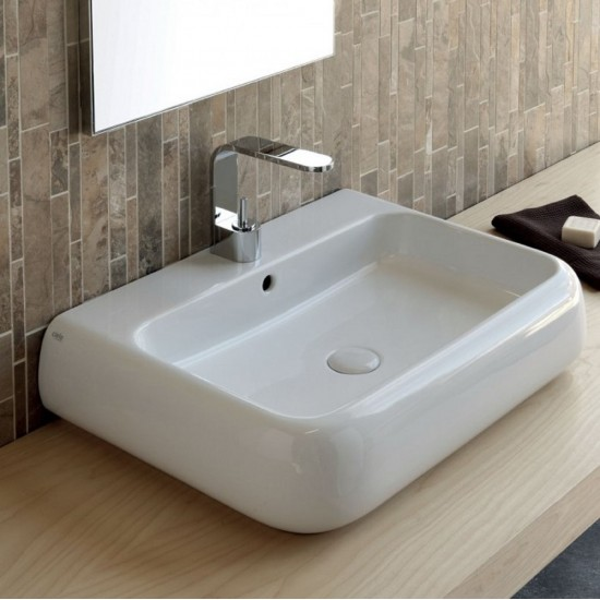 CIELO SHUI WALL-HUNG OR ON TOP WASHBASIN