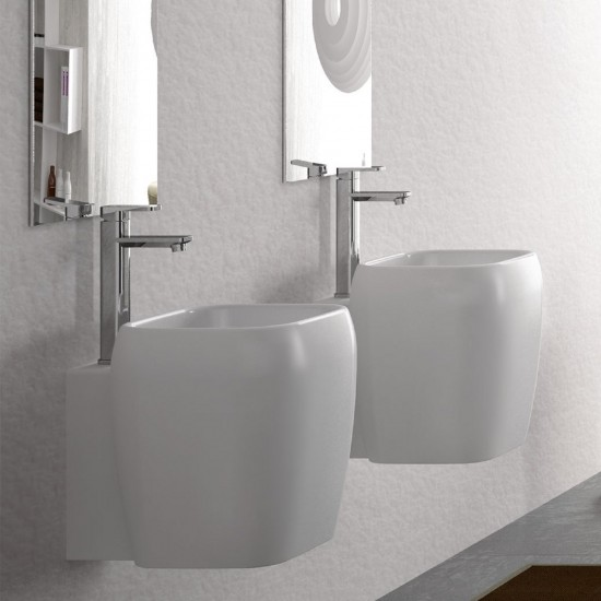 CIELO SHUI HALF PEDESTAL ONE HOLE WASHBASIN