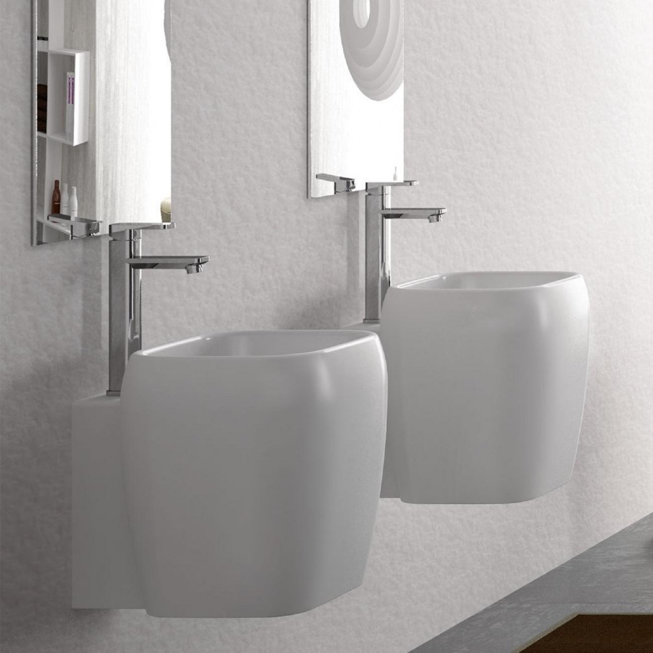 Lavabo A Colonna Design cielo shui lavabo mezza colonna monoforo - tattahome