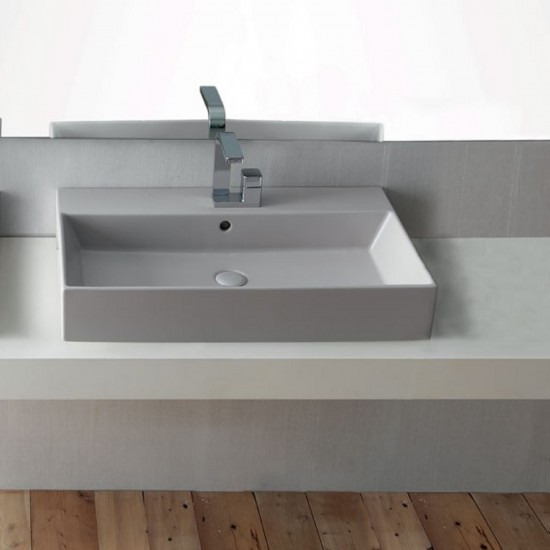 CIELO SMILE RECTANGULAR WASHBASIN