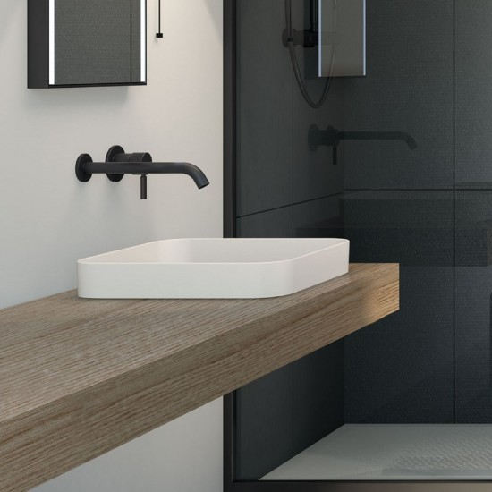 CIELO ENJOY SEMIRECESSED SQUARE WASHBASIN