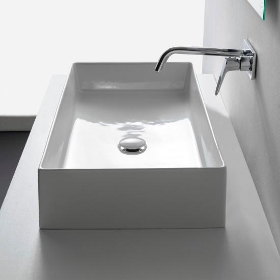 TEOREMA 2.0 SCARABEO 80 Lay-on washbasin