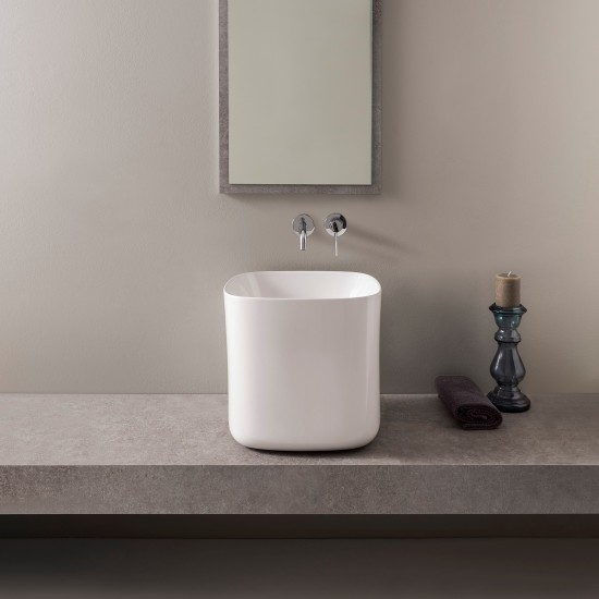 MOON SCARABEO 42H40 Lay-on washbasin