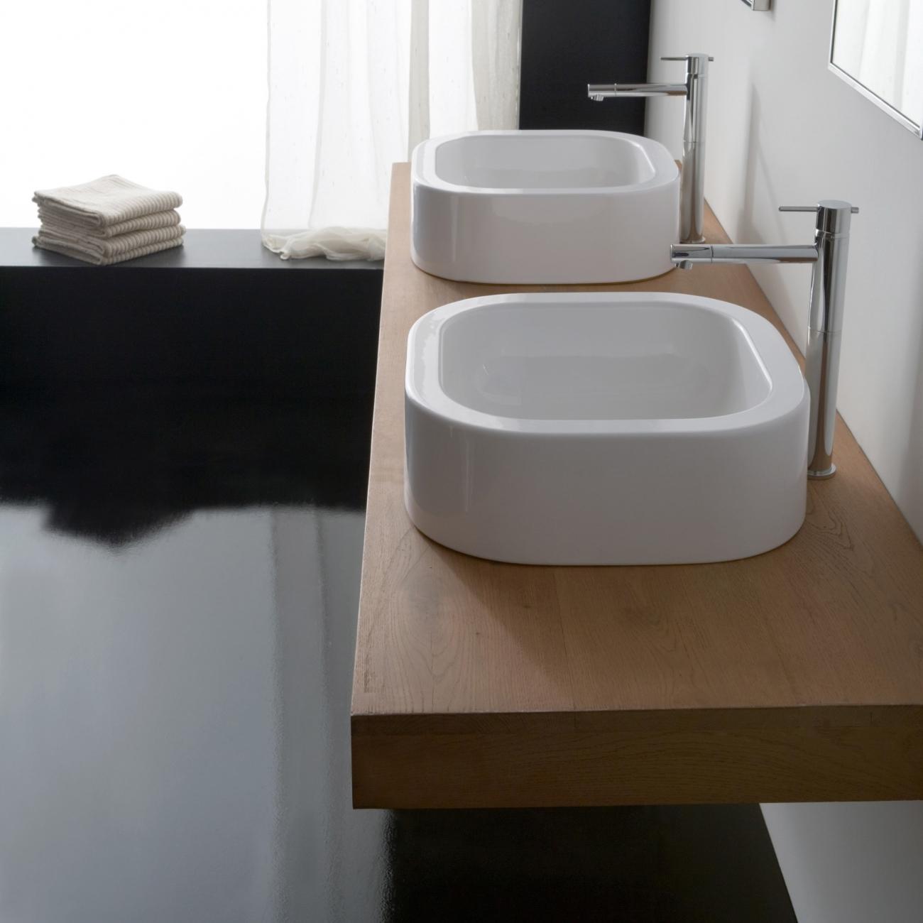 SCARABEO NEXT 40 Lay-on washbasin