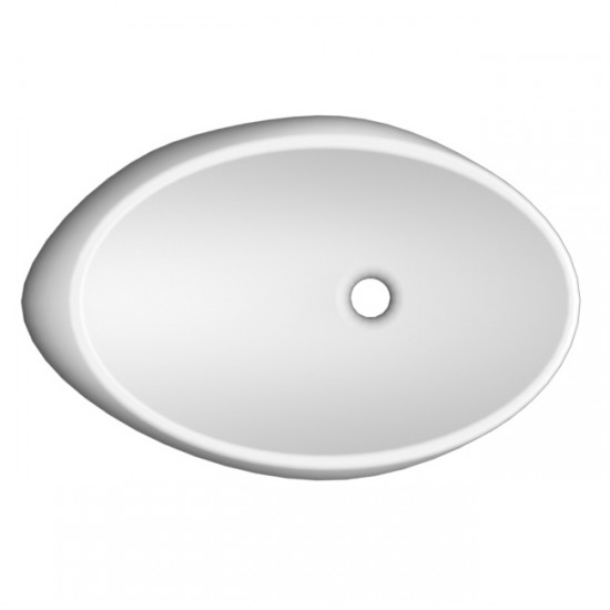 MOAI SCARABEO 71 LAY-ON WASHBASIN WHITE