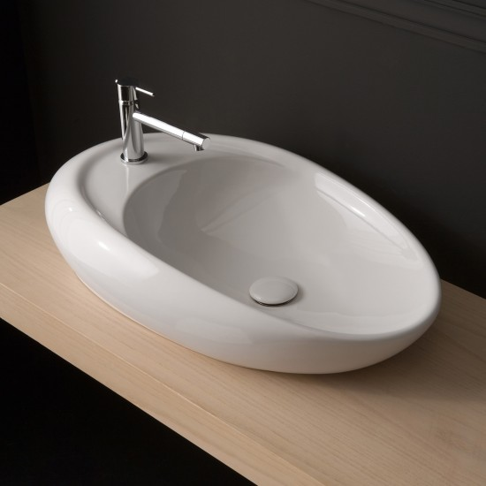 MOAI SCARABEO 71R LAY-ON WASHBASIN WHITE