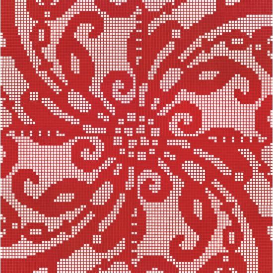 BISAZZA DECORI FLOORING EMBROIDERY RED