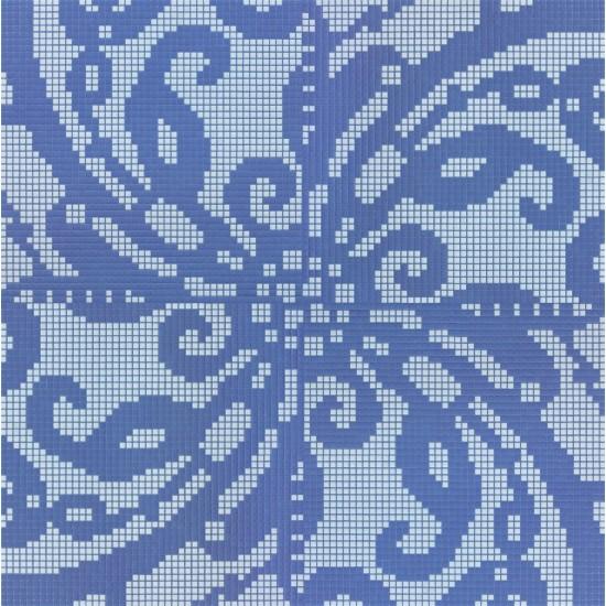 BISAZZA DECORI FLOORING EMBROIDERY BLUE