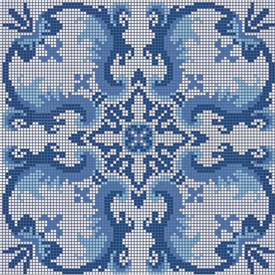 BISAZZA DECORI FLOORING OLIMPIA BLUE