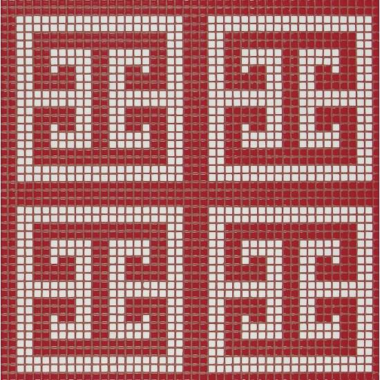 BISAZZA DECORI FLOORING KEY WHITE RED