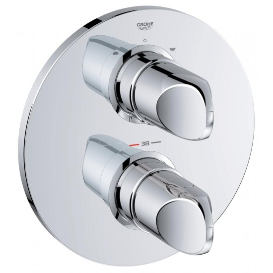 GROHE VERIS Thermostat with integrated 2-way diverter for shower