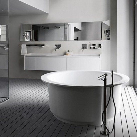 AGAPE IN-OUT FREESTANDING BATHTUB