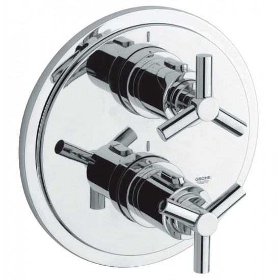 GROHE ATRIO Y Thermostat with integrated 2-way diverter for shower