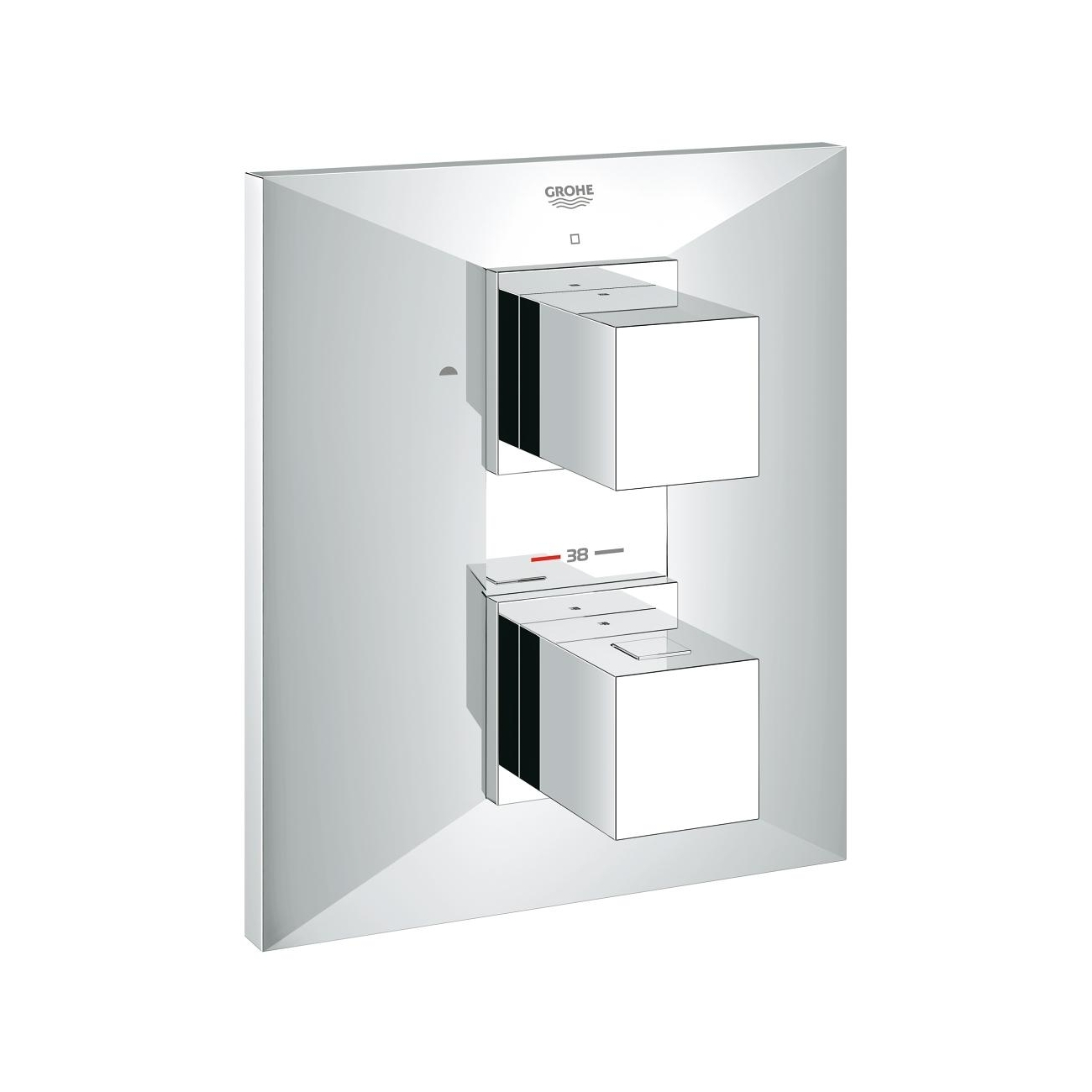 GROHE BRILLIANT Thermostat with integrated 2-way diverter for shower