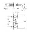 GROHE ATRIO Y  Wall-mounted basin mixer 180MM