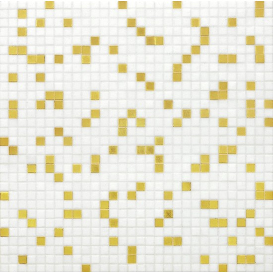 BISAZZA PRINCE WHITE GOLD BLENDS 10 MOSAICO