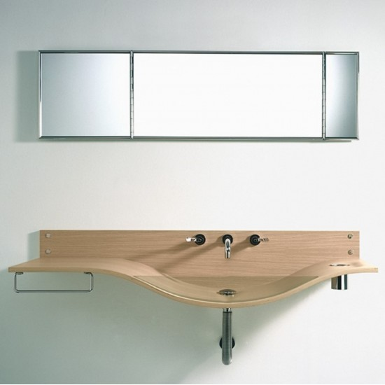 AGAPE WALL MOUNTED WASHBASIN GABBIANO