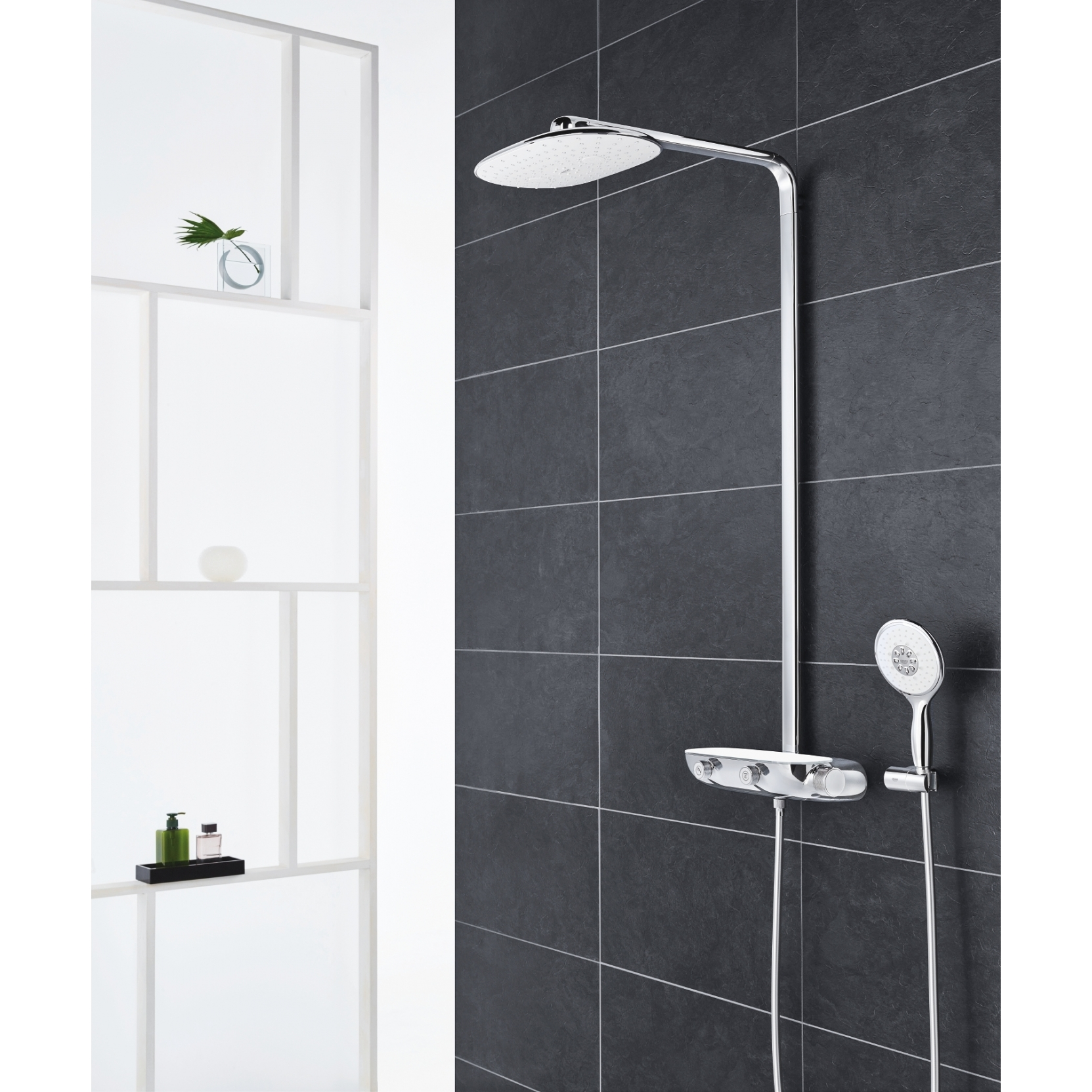grohe rainshower system smartcontrol with thermostat tattahome. Black Bedroom Furniture Sets. Home Design Ideas
