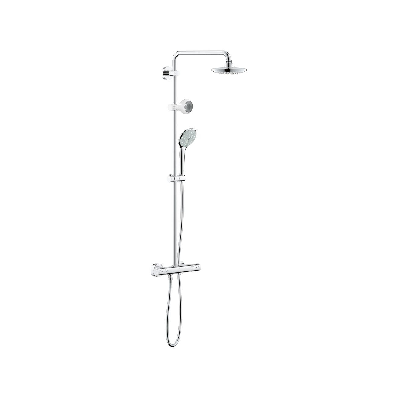 grohe euphoria system 180 with thermostat for wall. Black Bedroom Furniture Sets. Home Design Ideas