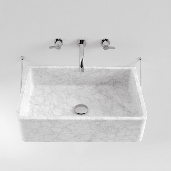 AGAPE CARRARA WALL MOUNTED WASHBASIN