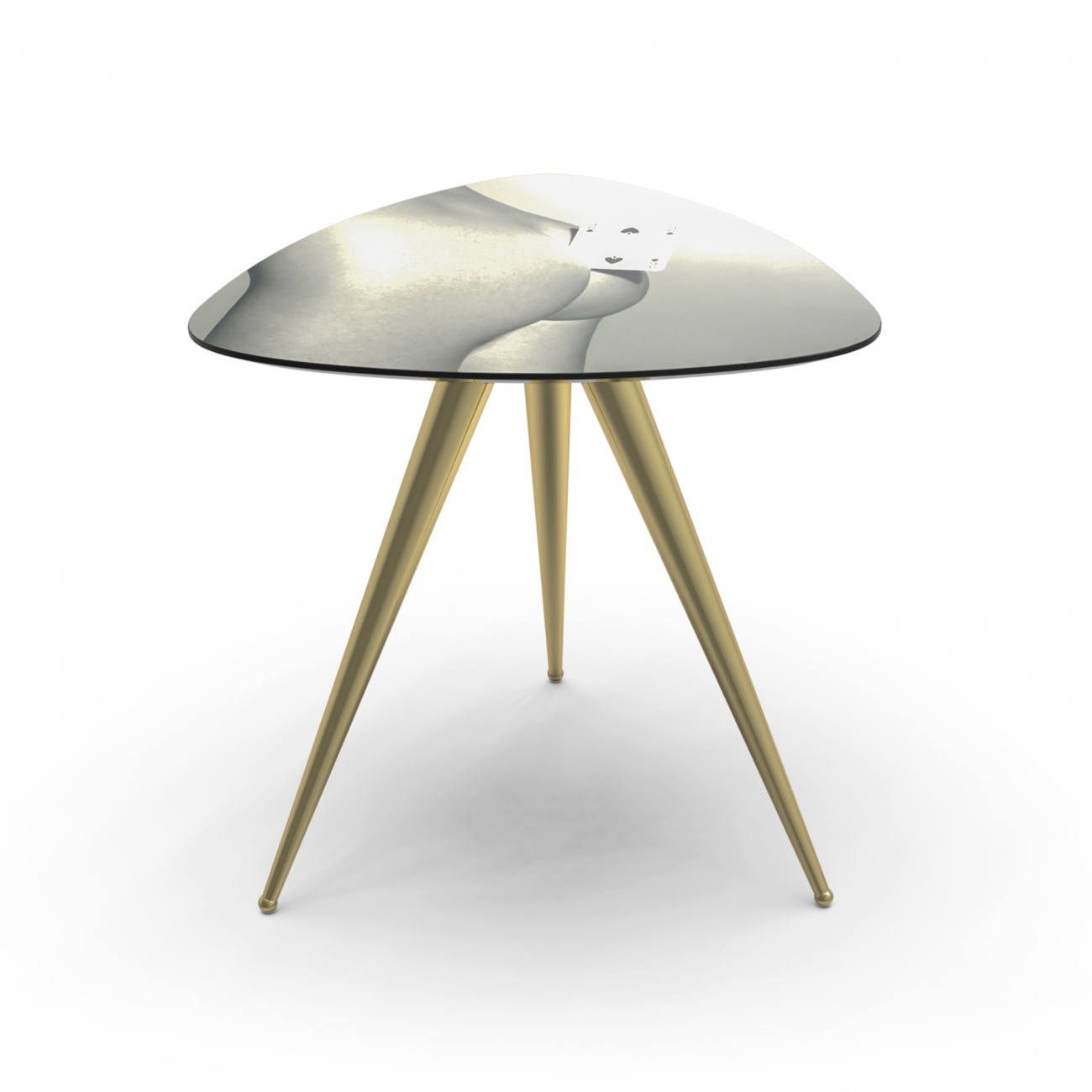 SELETTI TOILETPAPER TWO OF SPADES SIDE TABLE