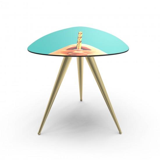 SELETTI TOILETPAPER DRILL SIDE TABLE