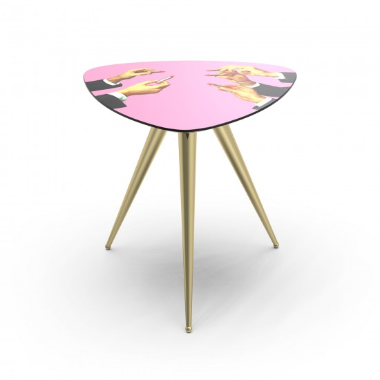 SELETTI TOILETPAPER PINK LIPSTICKS SIDE TABLE