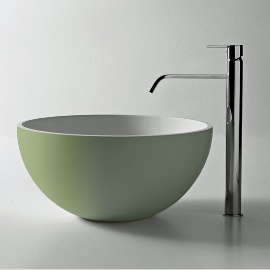 URNAMOOD ANTONIO LUPI Round Top Mount Flumood Sink coloured