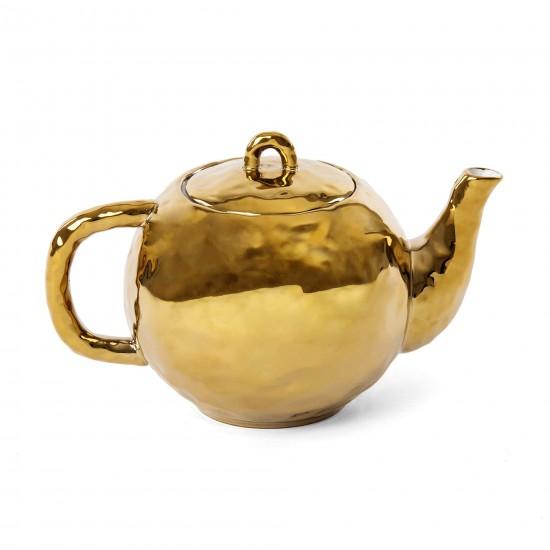 SELETTI FINGERS PORCELAIN GOLD TEA POT