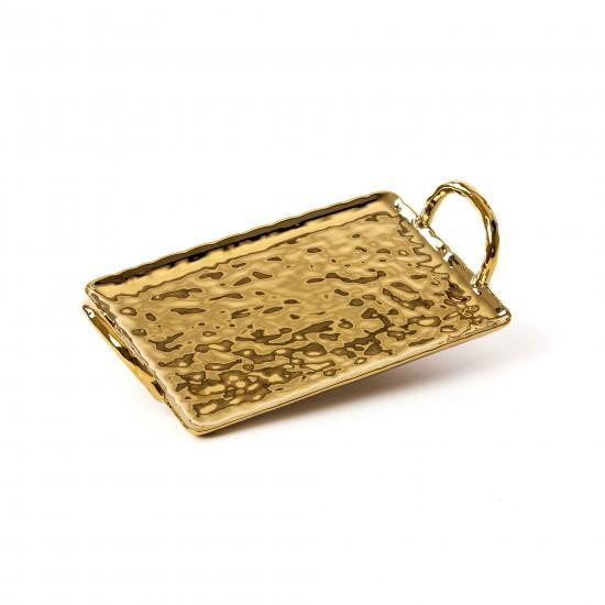 SELETTI FINGERS PORCELAIN GOLD TRAY