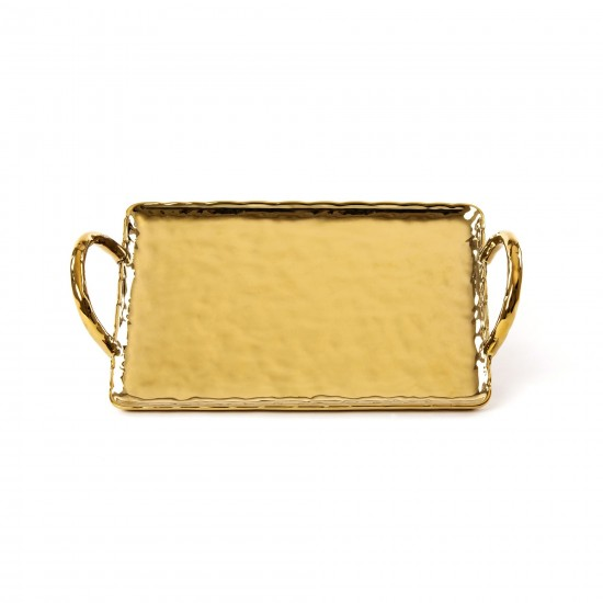 SELETTI FINGERS PORCELAIN GOLD TRAY