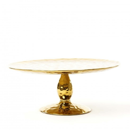 SELETTI FINGERS PORCELAIN GOLD CAKE STAND