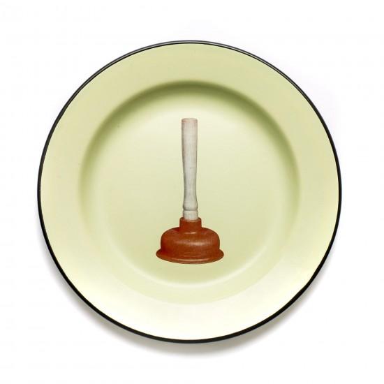 SELETTI TOILETPAPER ENAMEL PLATE PLUNGER