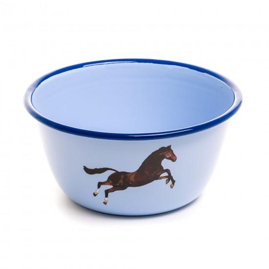 SELETTI TOILETPAPER ENAMEL BOWL HORSE