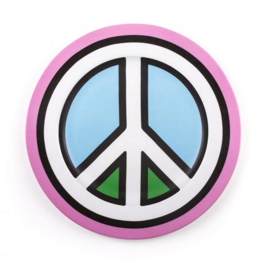 SELETTI BLOW PORCELAIN PLATES PEACE