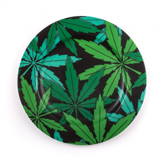 SELETTI BLOW PORCELAIN PLATES WEED