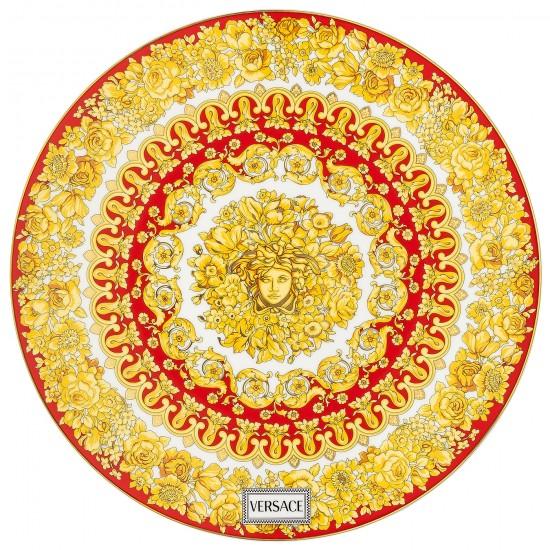 Rosenthal Versace Medusa Rhapsody Red Service Plate