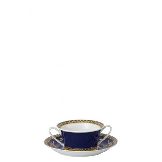 Rosenthal Versace Medusa Blue Tazza Brodo