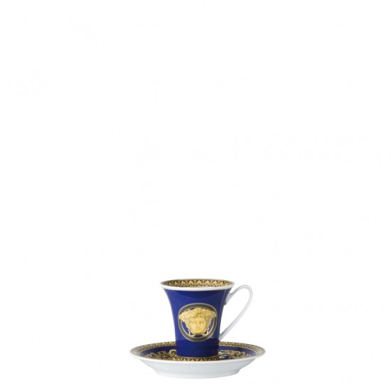 Rosenthal Versace Medusa Blue Tazza Espresso Alta