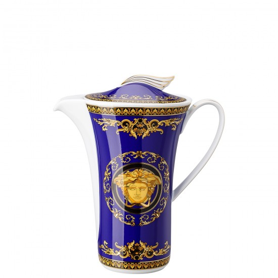 Rosenthal Versace Medusa Blue Caffettiera