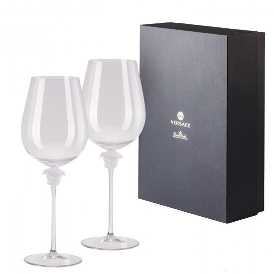 Rosenthal Versace Medusa Lumière Bordeaux Goblet