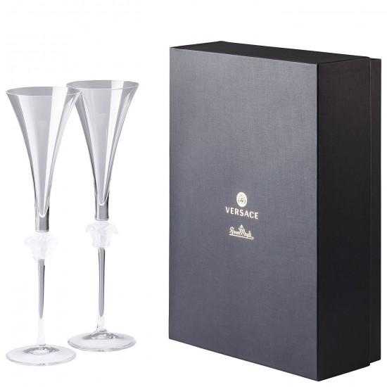 Rosenthal Versace Medusa Lumière Champagne Flute