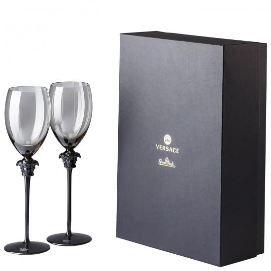 Rosenthal Versace Medusa Lumière Haze White Wine Goblet