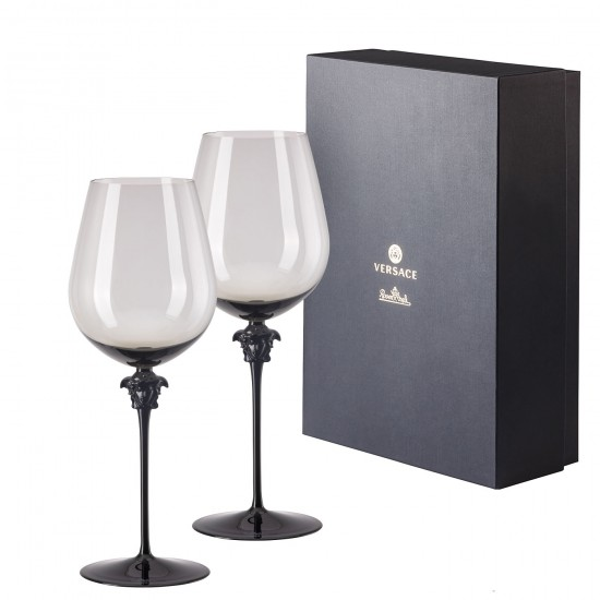 Rosenthal Versace Medusa Lumière Haze Bordeaux Goblet