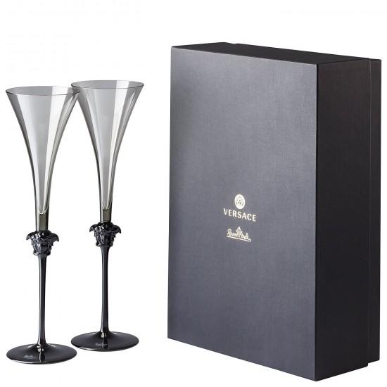 Rosenthal Versace Medusa Lumière Haze Champagne Flute