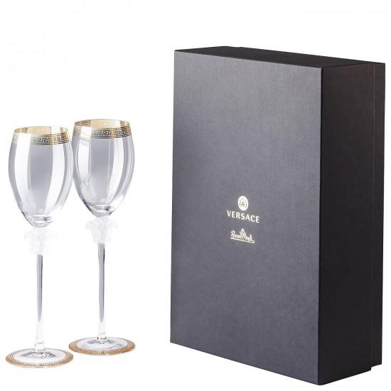 Rosenthal Versace Medusa D'Or White Wine Goblet