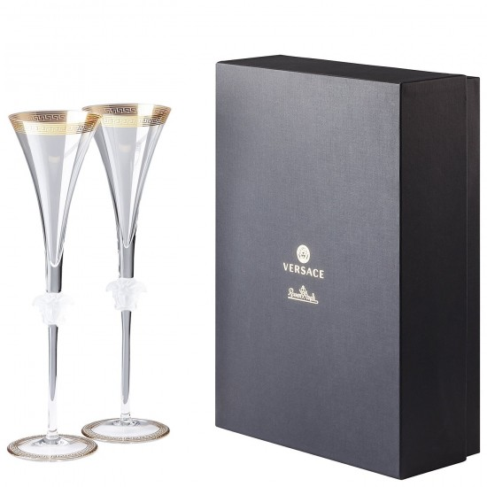 Rosenthal Versace Medusa D'Or Champagne Flute