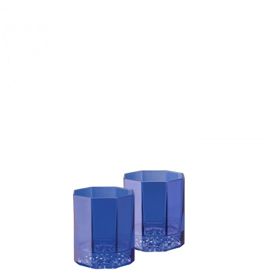Rosenthal Versace Medusa Lumière Rhapsody Blue Bicchiere Whisky