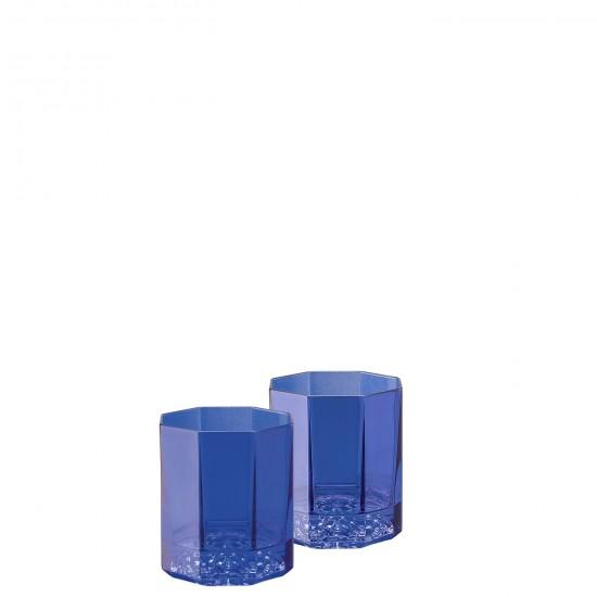 Rosenthal Versace Medusa Lumière Rhapsody Blue Whisky Glass
