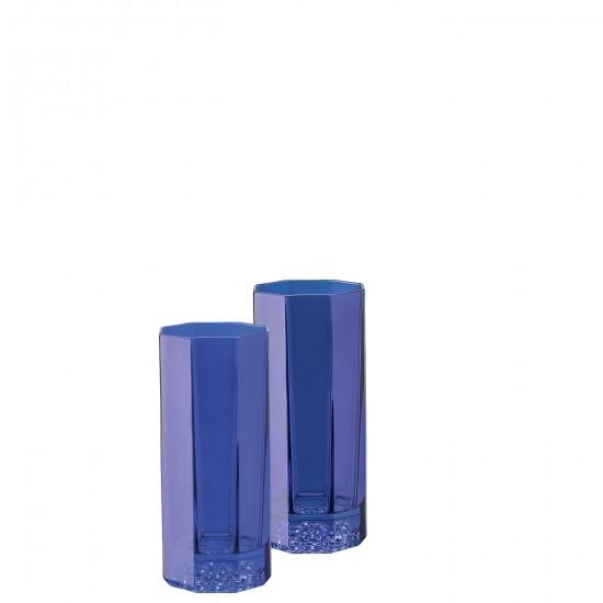 Rosenthal Versace Medusa Lumière Rhapsody Blue Bicchiere Long Drink